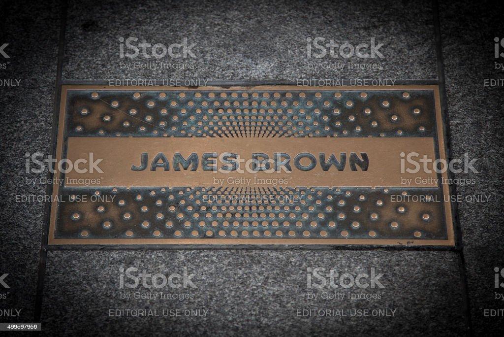 James Brown paving slab stock photo