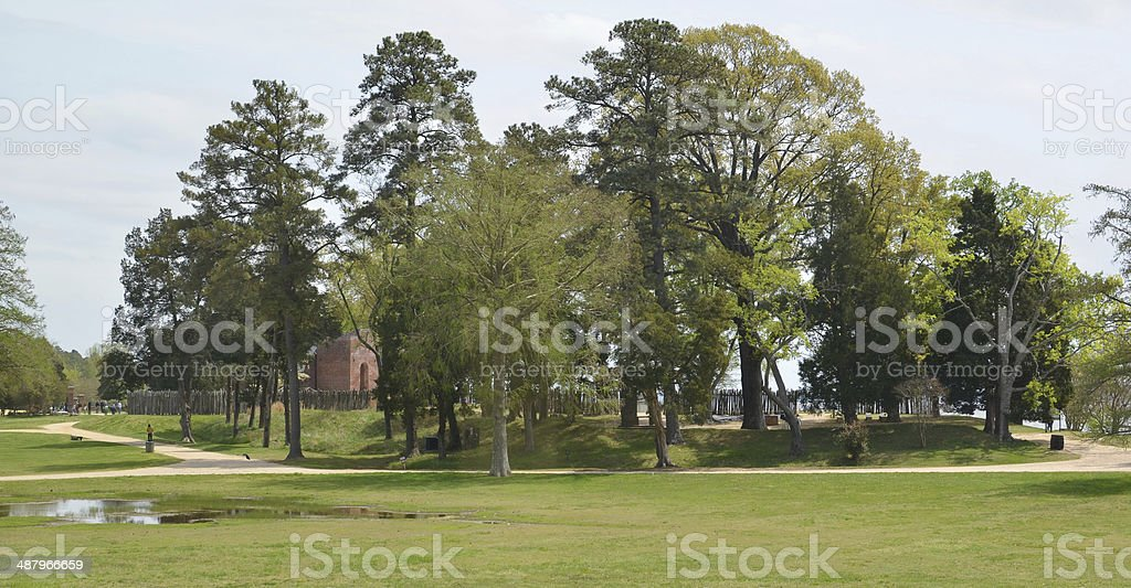 James Fort and Fort Pochahontas stock photo