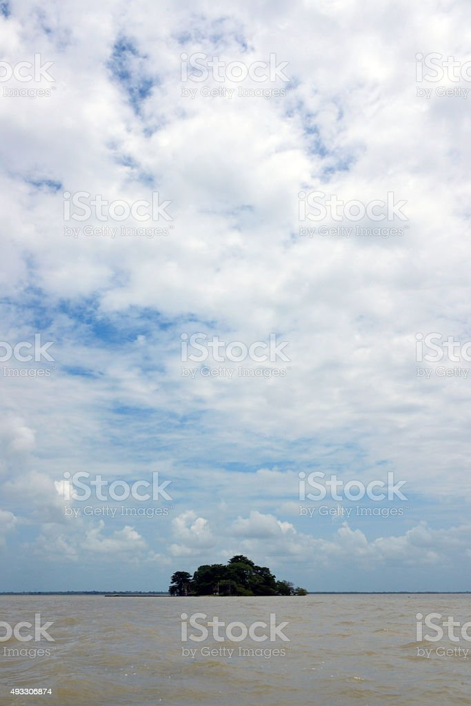 James Island and the Gambia river stock photo