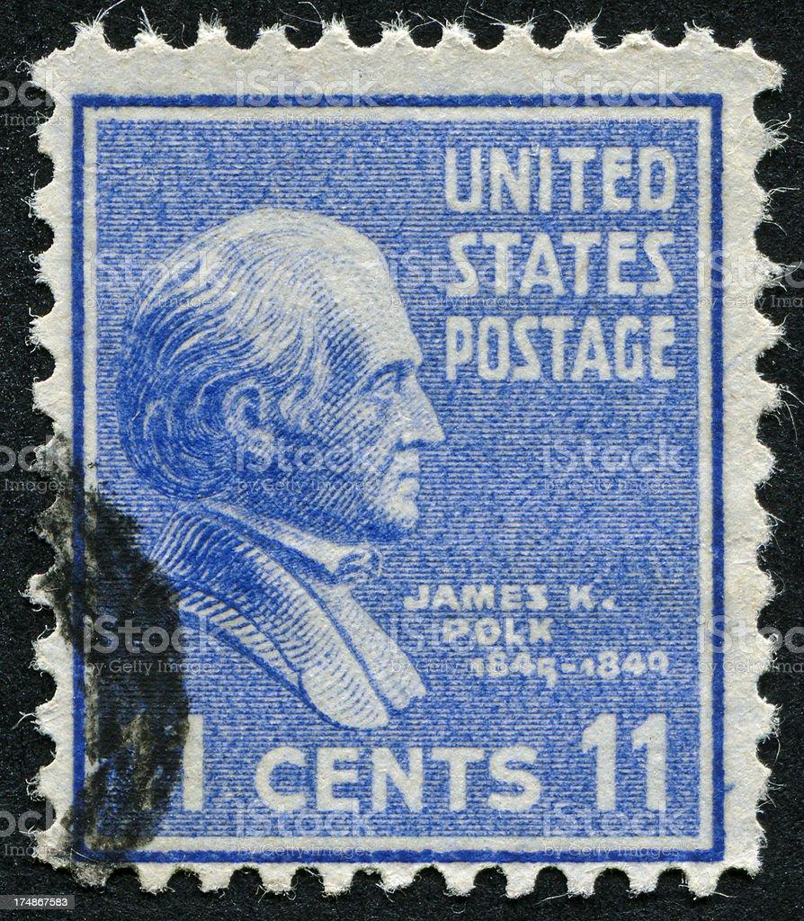 James K. Polk Stamp stock photo