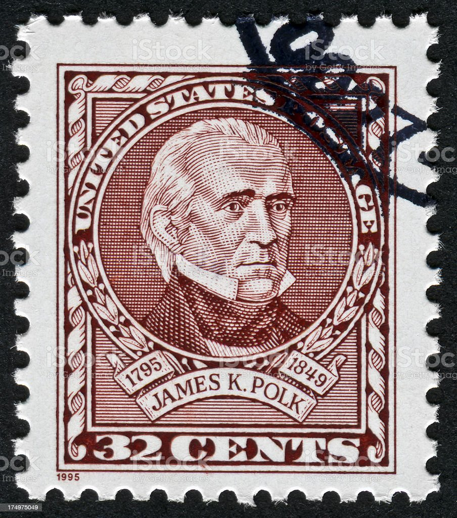 James K. Polk Stamp stock photo