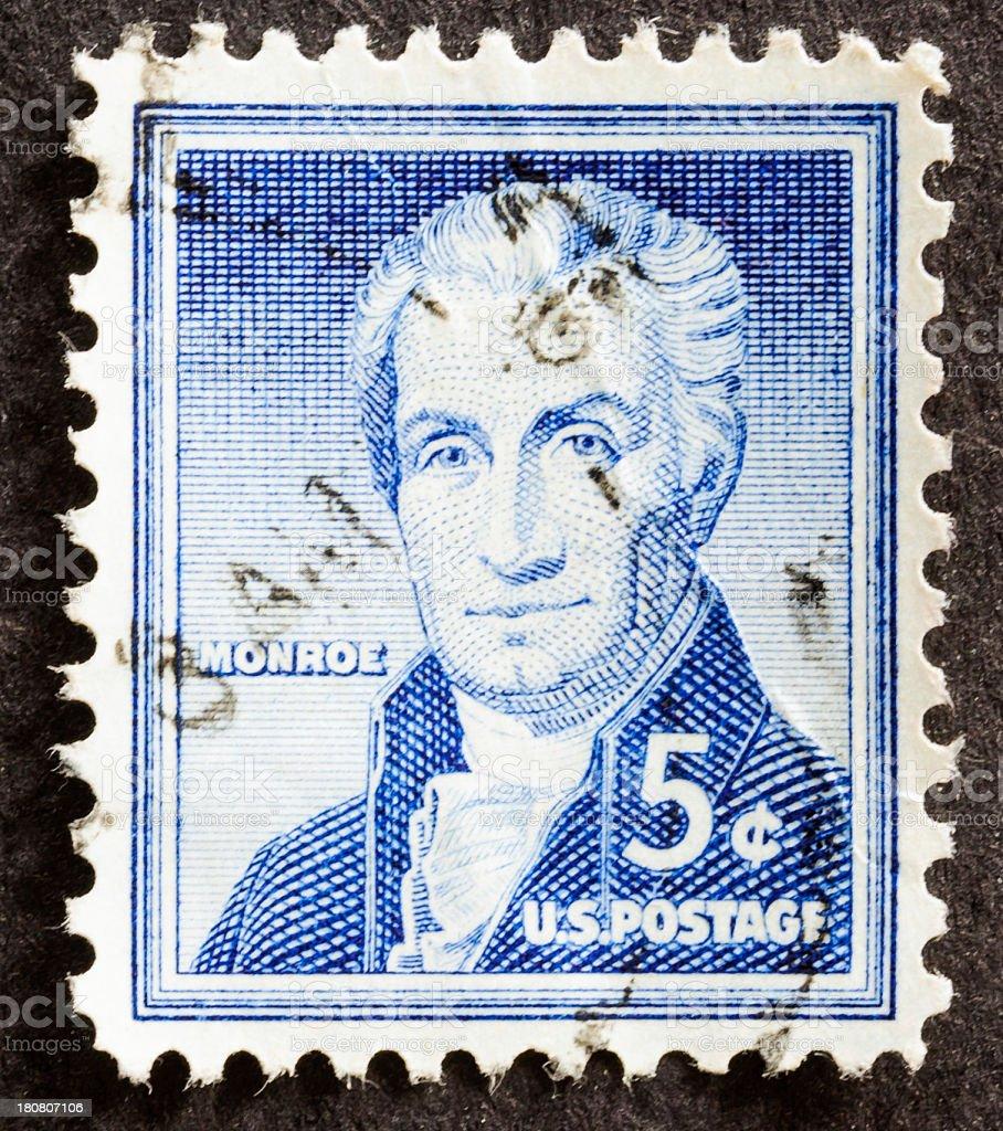 James Monroe Stamp stock photo