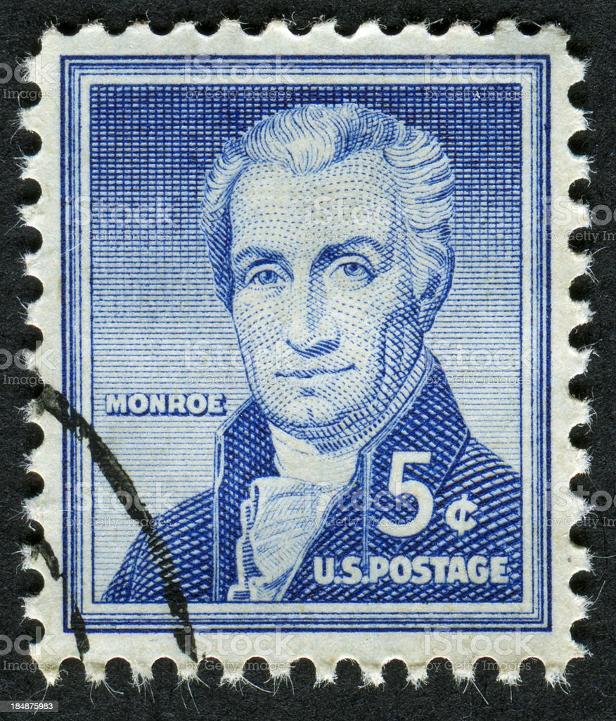 James Monroe Stamp stock photo
