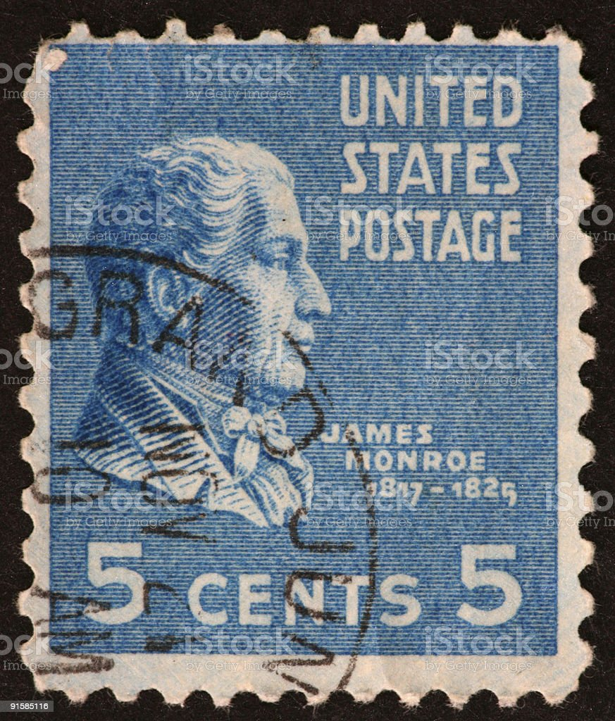 James Monroe stamp royalty-free stock photo