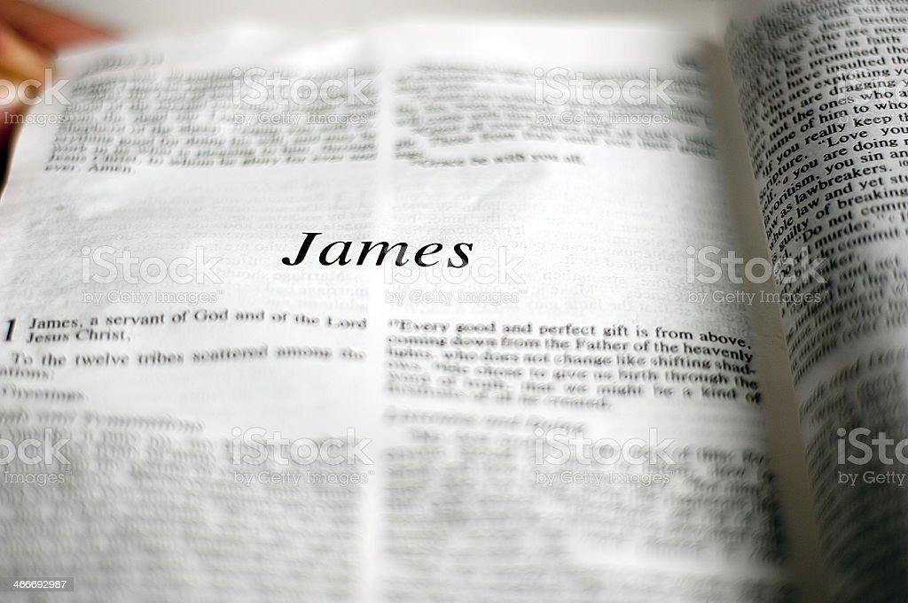 James stock photo