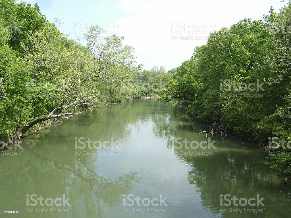 James River Bend royalty-free stock photo