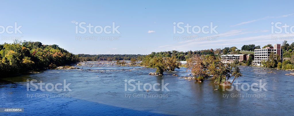 James River Panorama stock photo