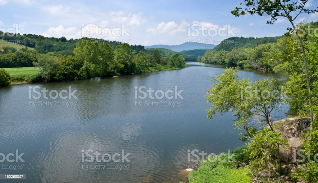 James River stock photo
