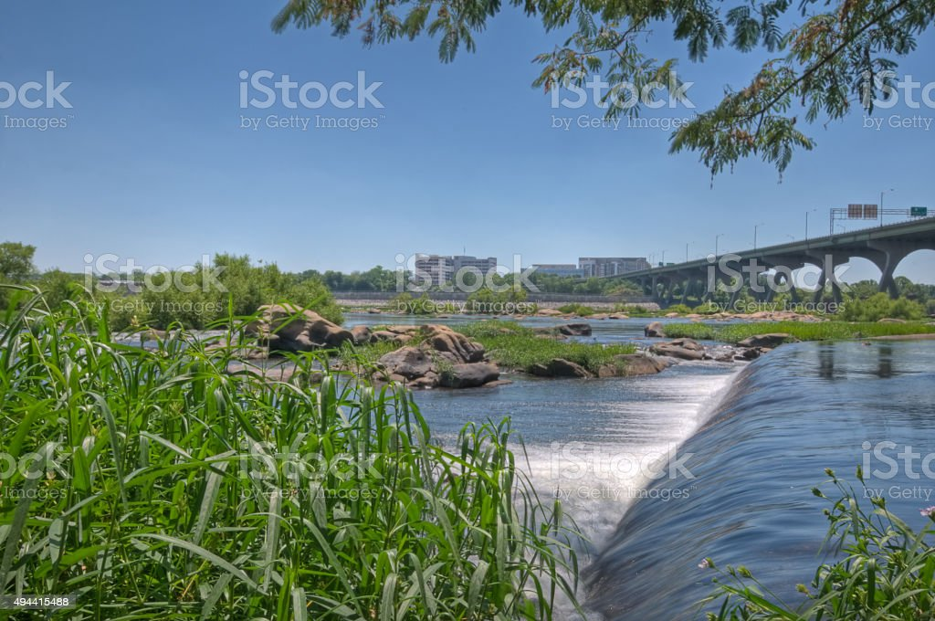 James River stock photo