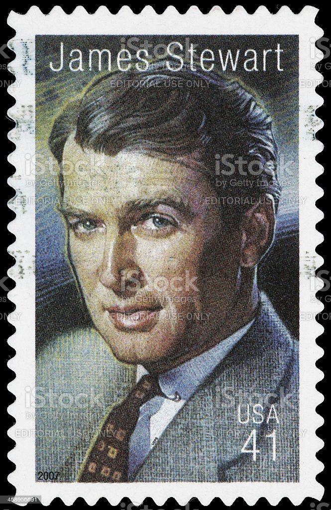 USA James Stewart postage stamp stock photo