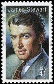USA James Stewart postage stamp