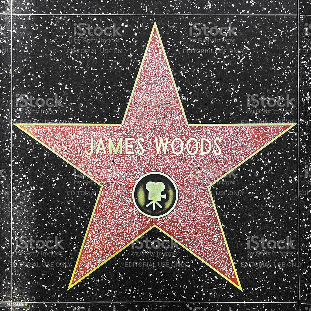 James Woods star on Hollywood Walk of Fame stock photo