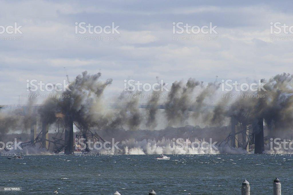 Jamestown Bridge Demolition stock photo