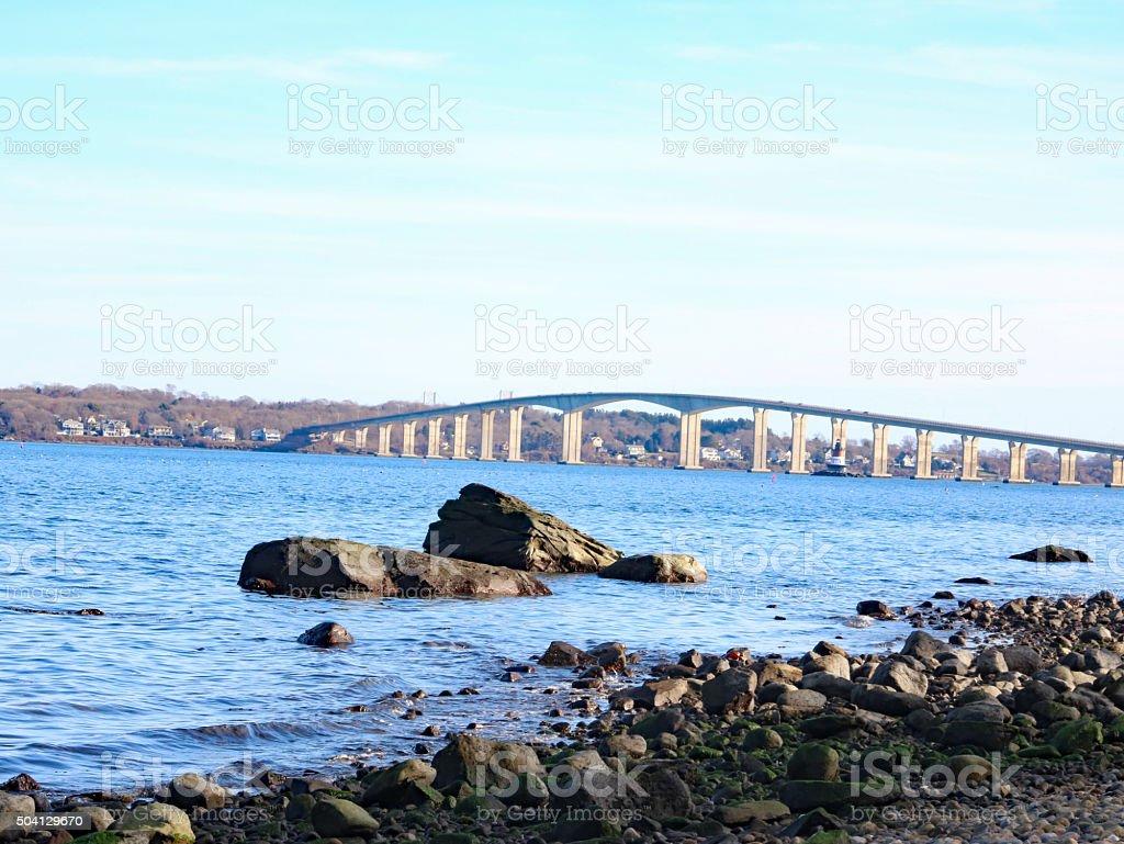 Pont de Jamestown photo libre de droits