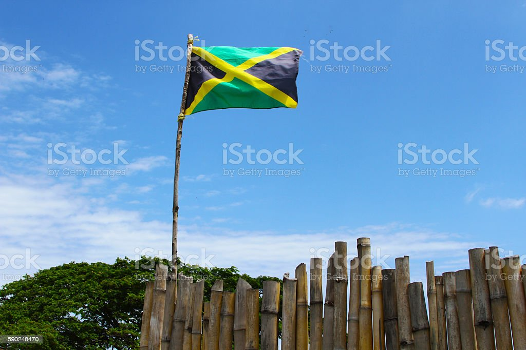 jamican flag stock photo