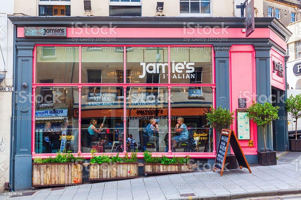 Jamie Oliver restaurant in Bristol, UK stock photo