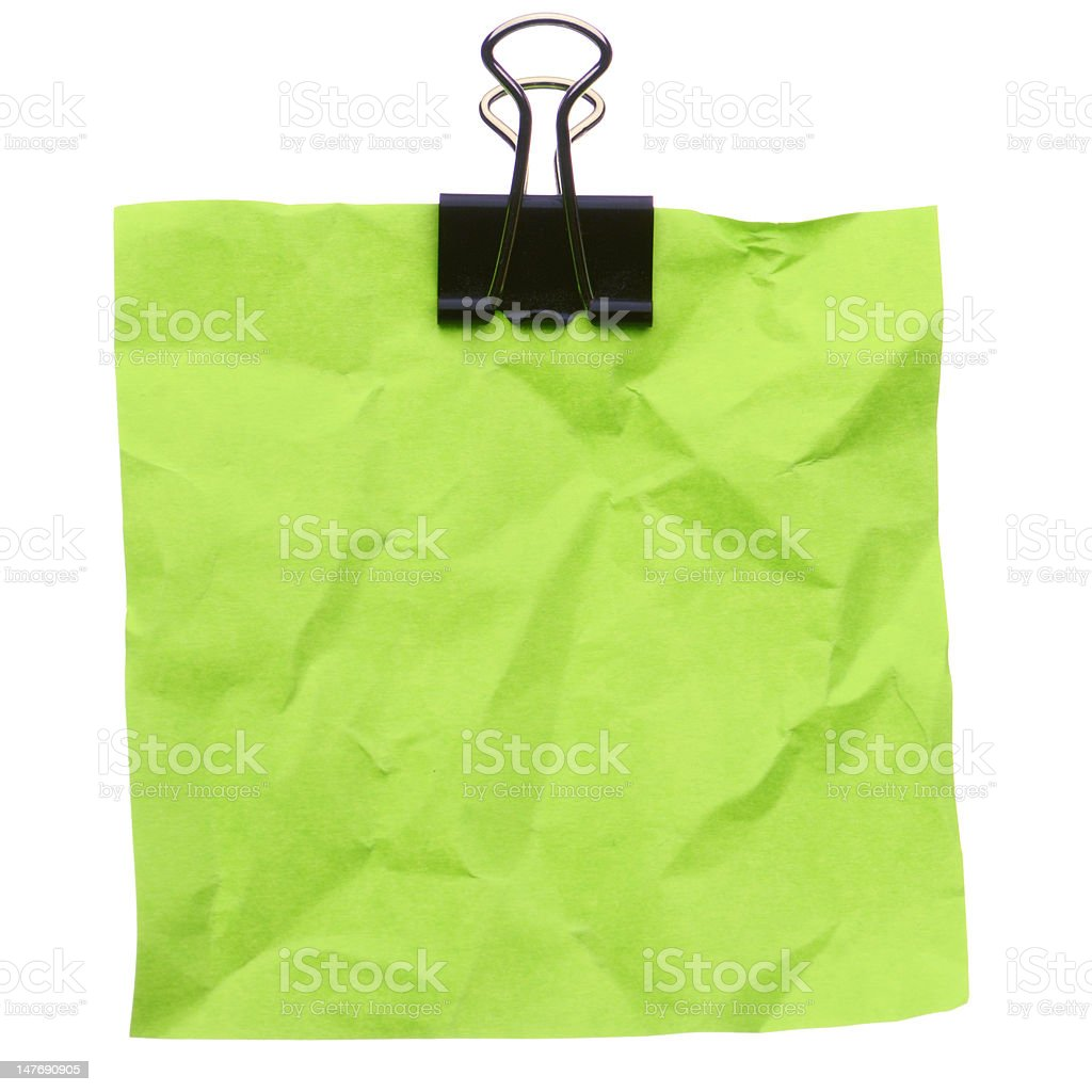 Jammed green note royalty-free stock photo