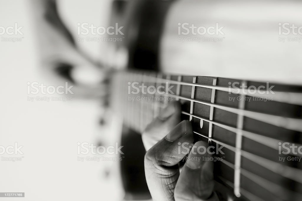 Jammin' on an Electric Guitar royalty-free stock photo