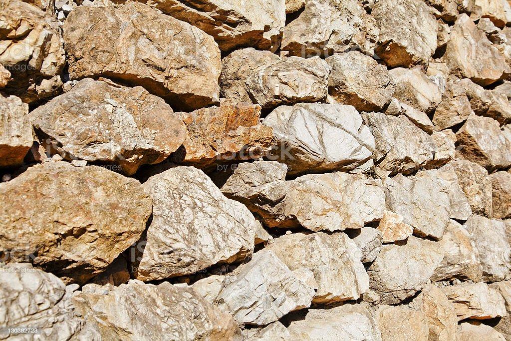 Jammu Kashmir India Dry stone walling stock photo