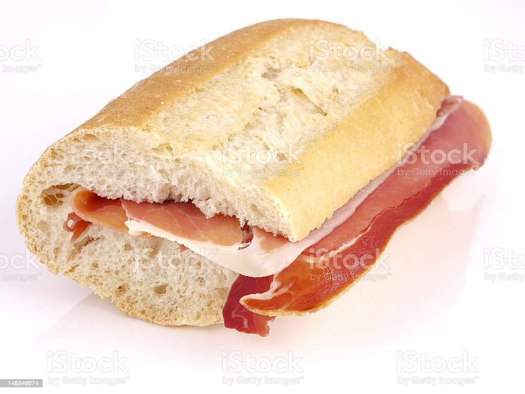 Bocadillo de Jamon royalty-free stock photo