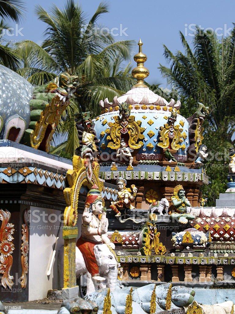 Janardhana Swamy Temple shrine,Kerala,India. stock photo