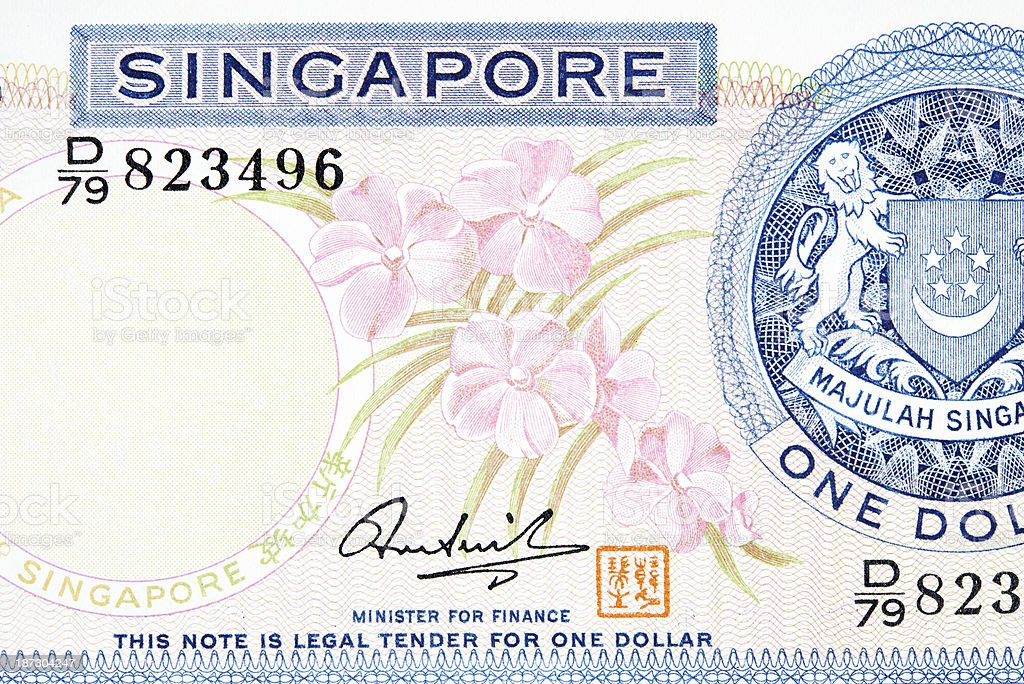 Janet Kaneali Orchid on Banknote royalty-free stock photo