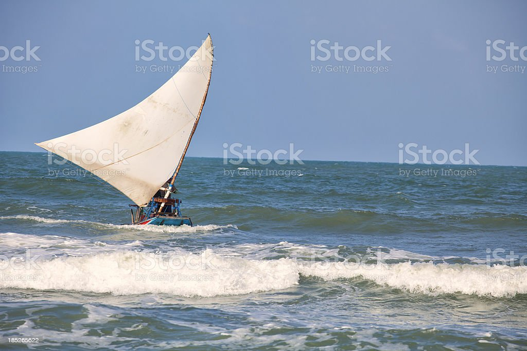 Jangada sail boat stock photo
