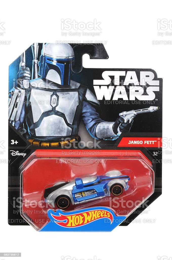 Jango Fett Hot Wheels Diecast Toy Car stock photo