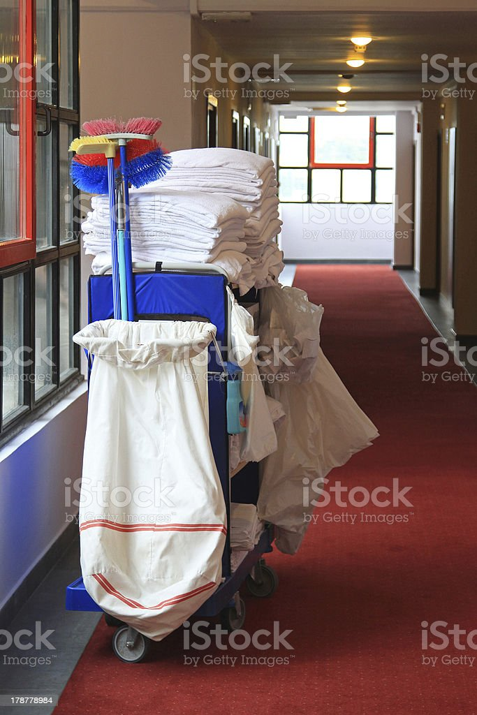 Janitor cart stock photo
