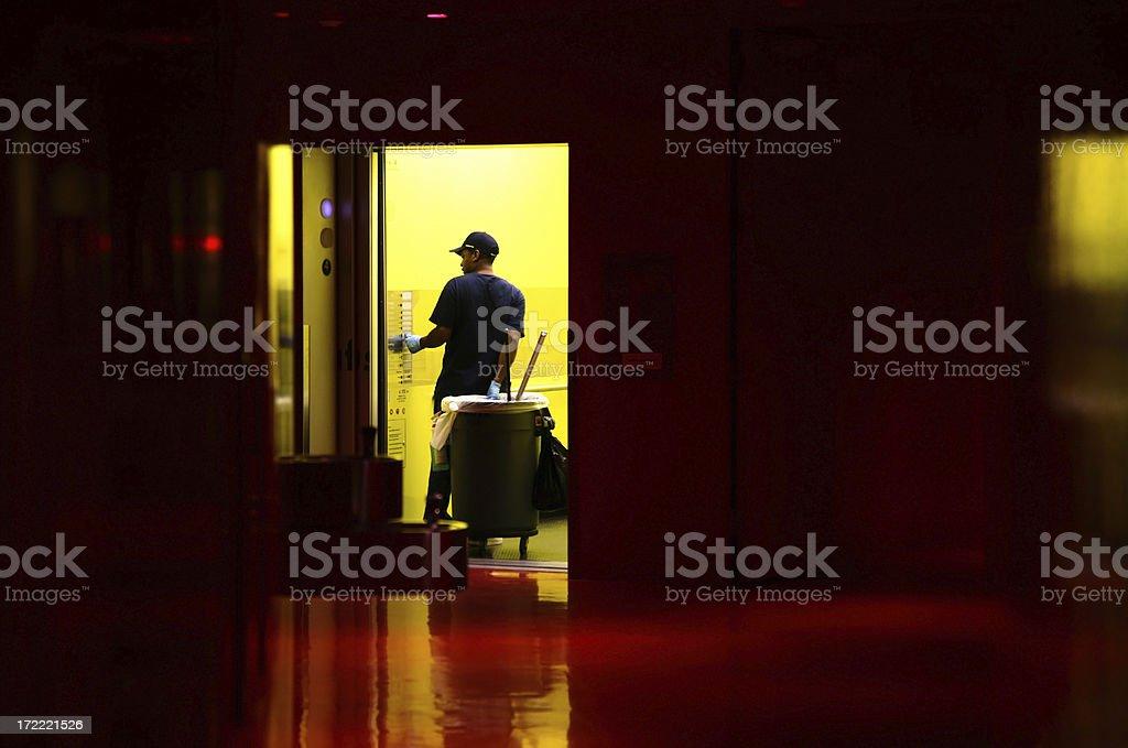 Janitor stock photo