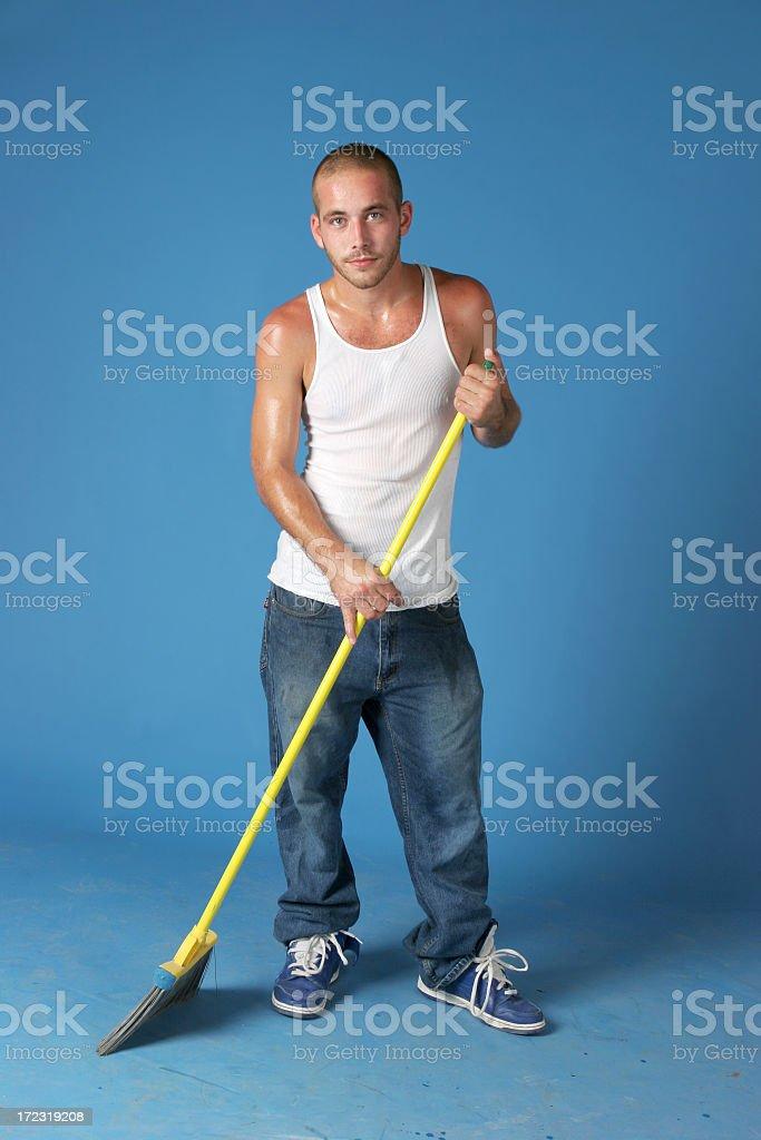 Janitor royalty-free stock photo