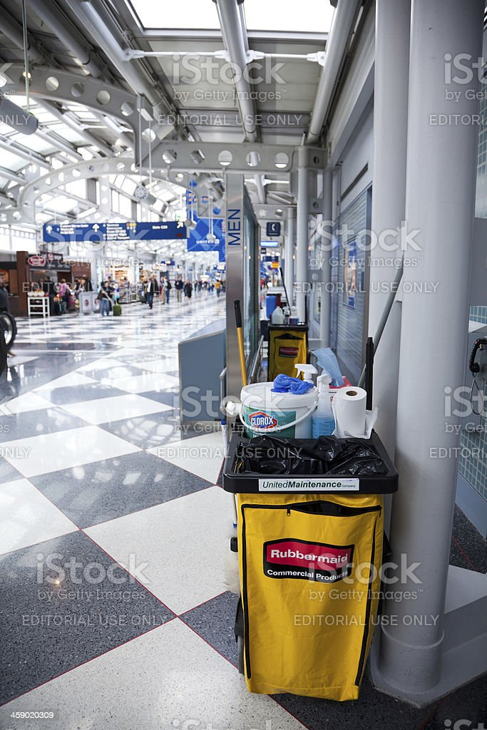 Janitorial service equipment royalty-free stock photo