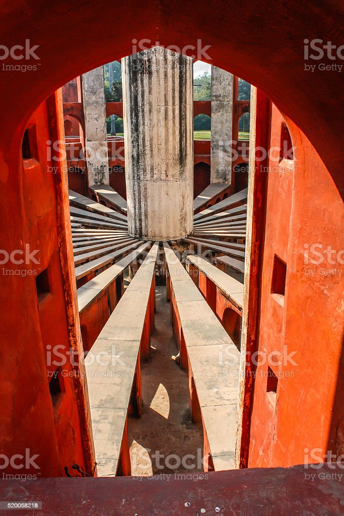 'Jantar Mantar' an astronomical observatory in New Delhi stock photo