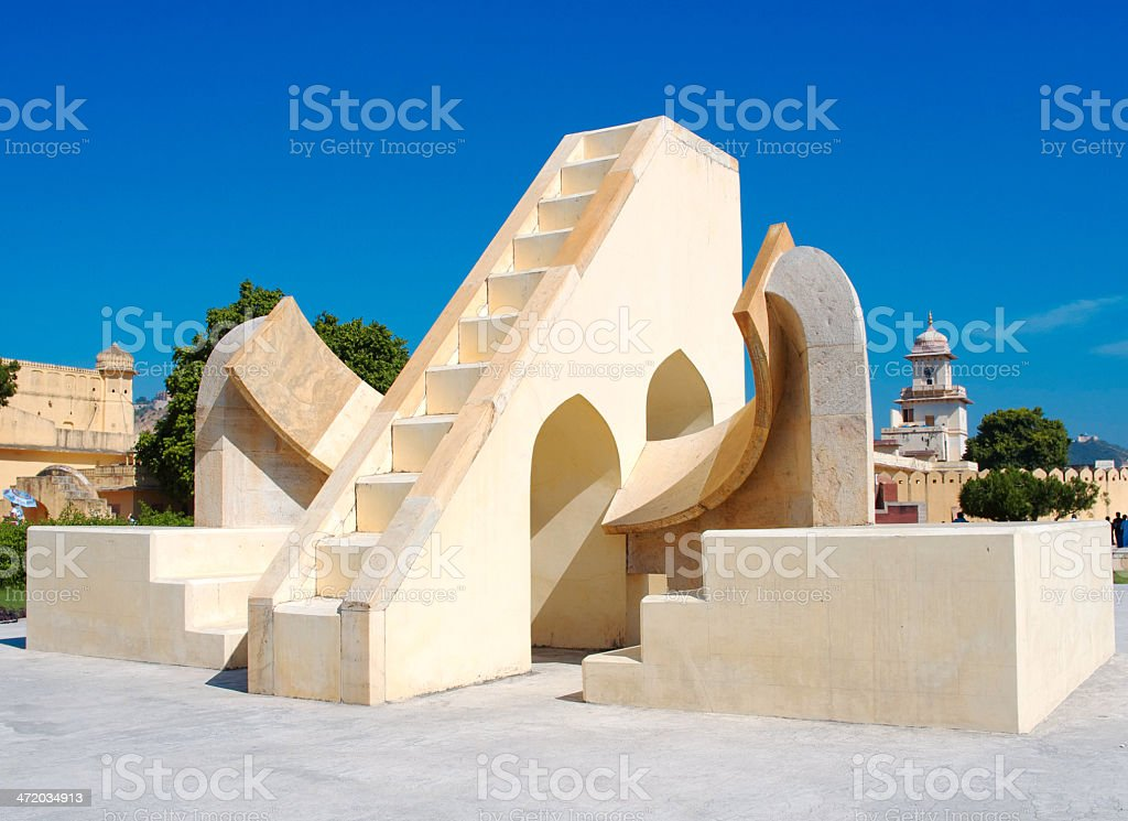 Jantar Mantar astronomical observatory in Japiur, India royalty-free stock photo