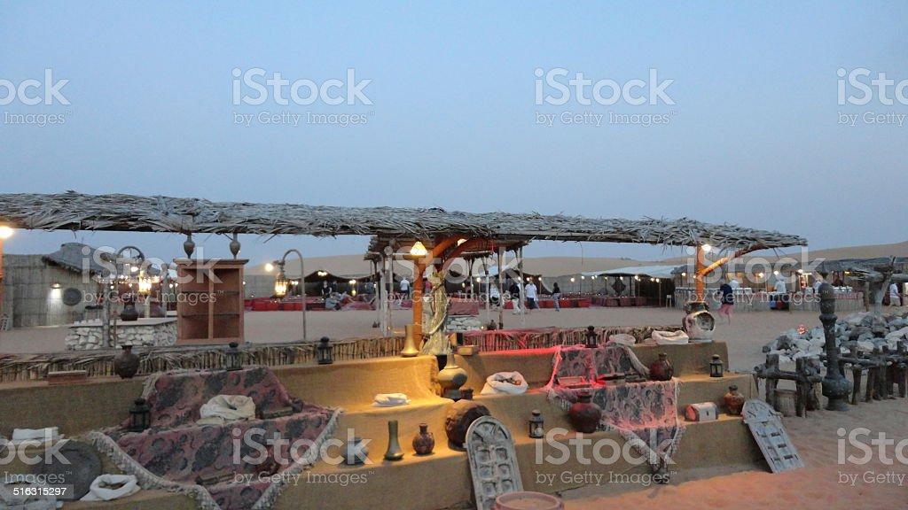 Jantar no Deserto de Dubai stock photo
