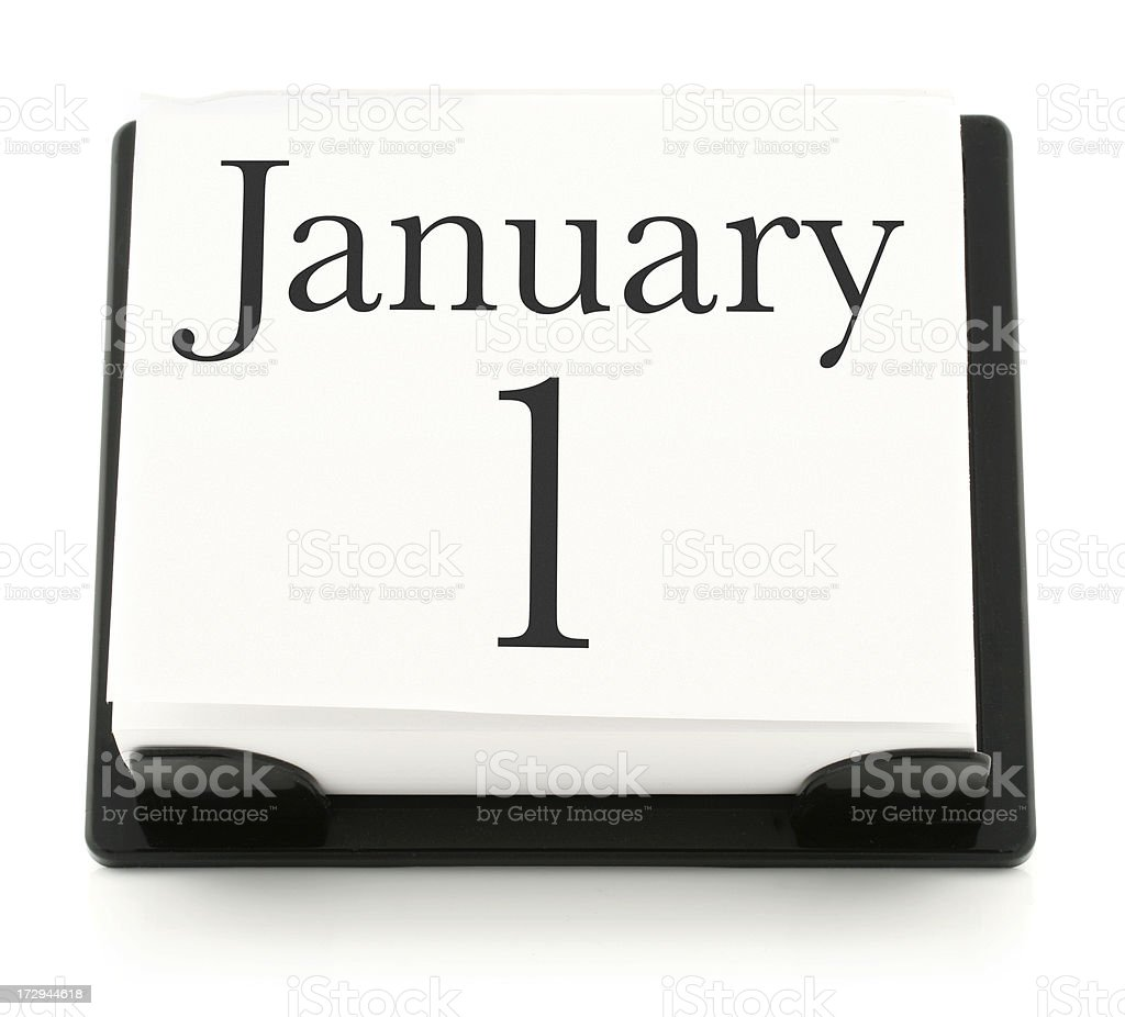 January 1 Desk Calendar royalty-free stock photo