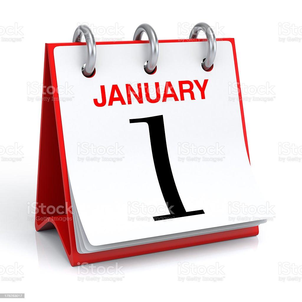 January 1 royalty-free stock photo