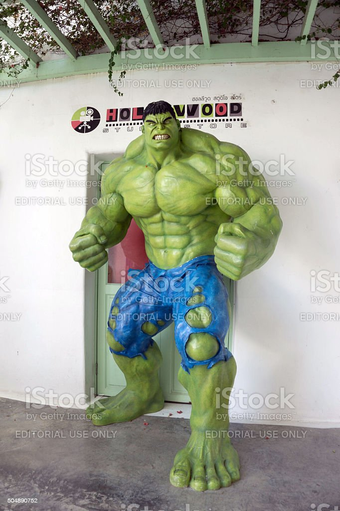 THAILAND- January 1,2016 The model of big Hulk stock photo