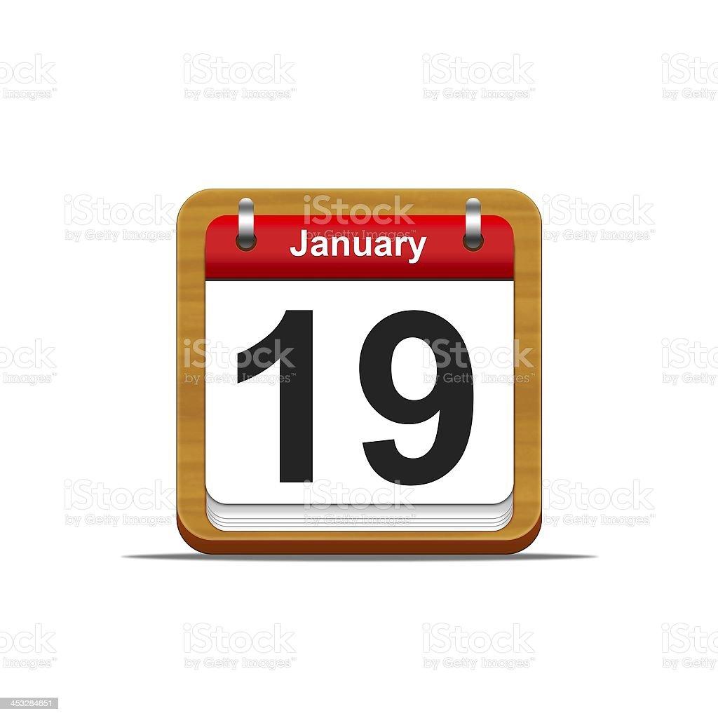 January 19. stock photo