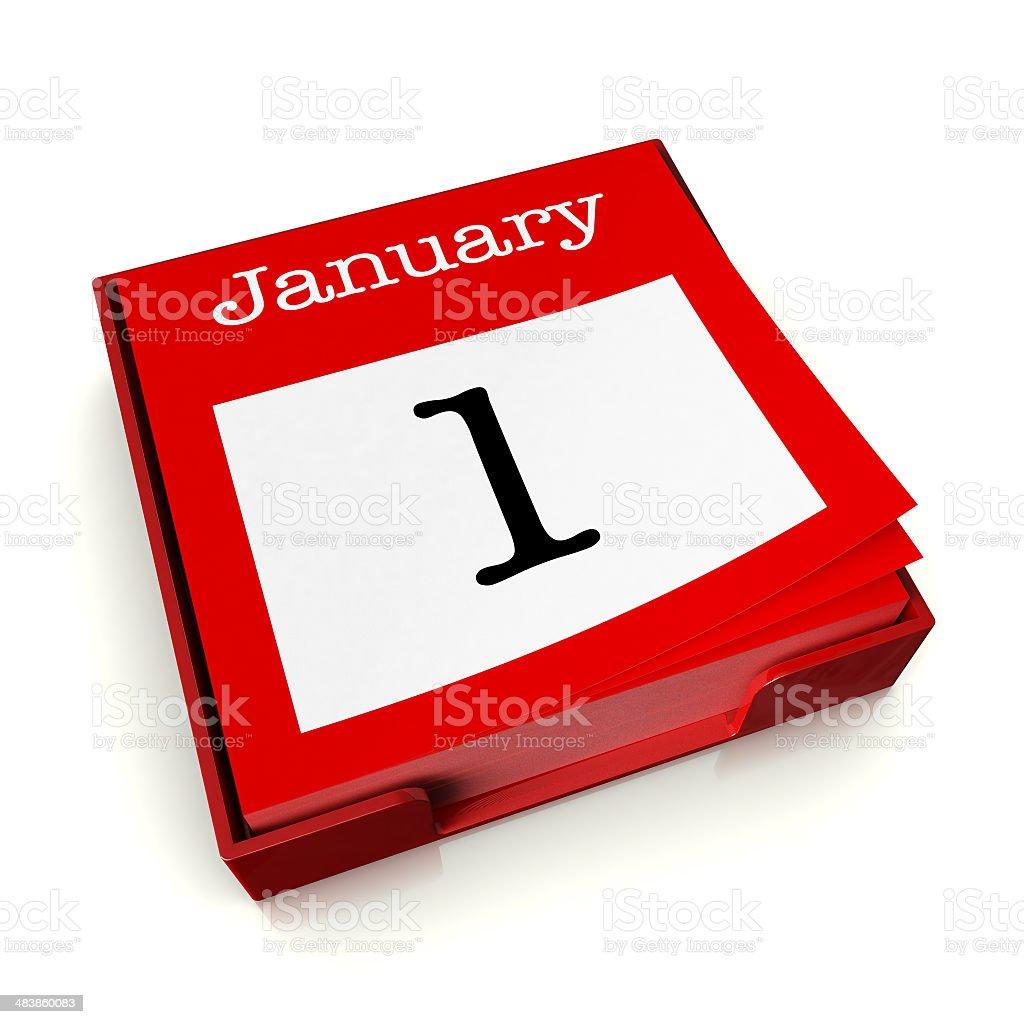 January 1st royalty-free stock photo