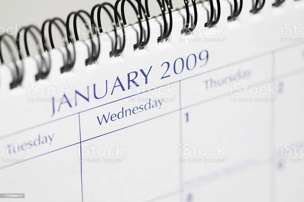 January 2009 royalty-free stock photo