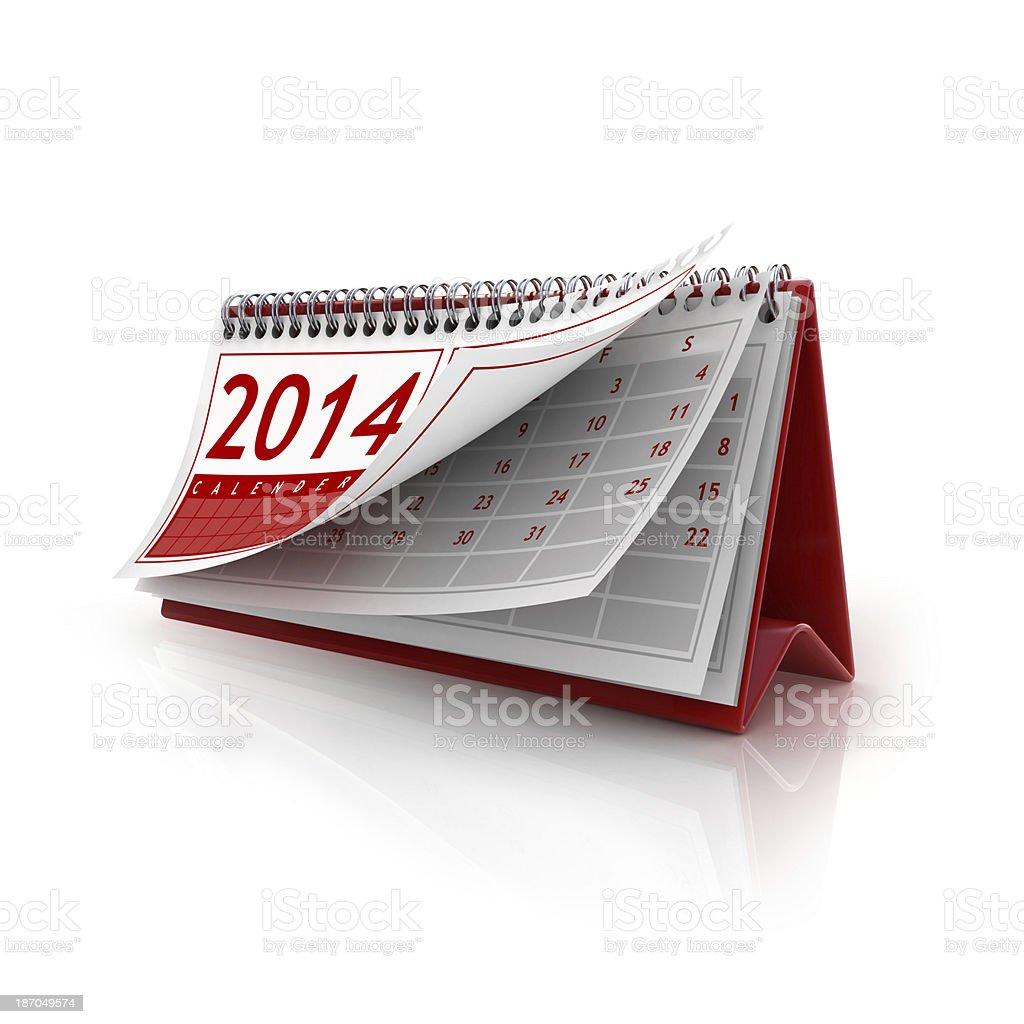 January 2014 calendar royalty-free stock photo