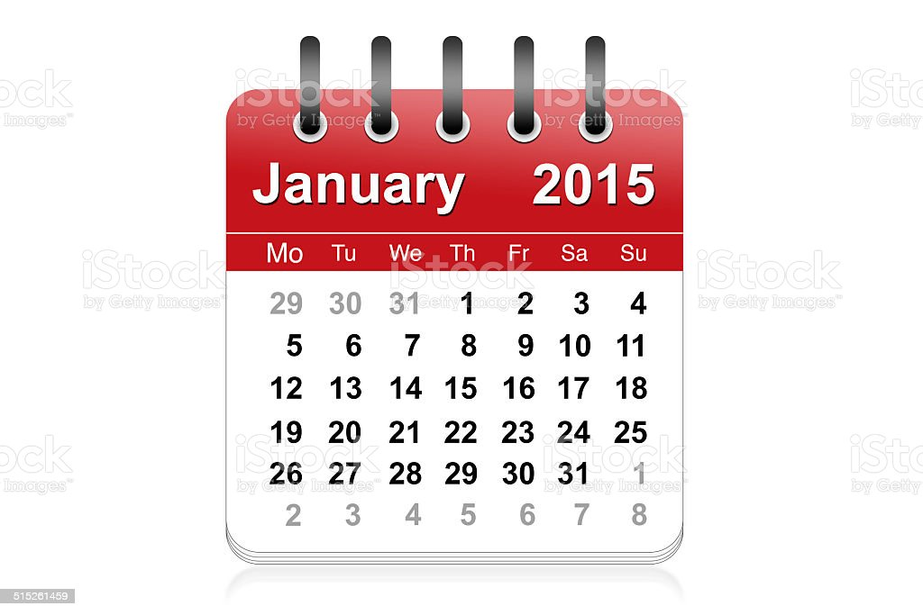 January 2015 stock photo
