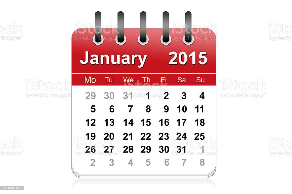 January 2015 stock photo
