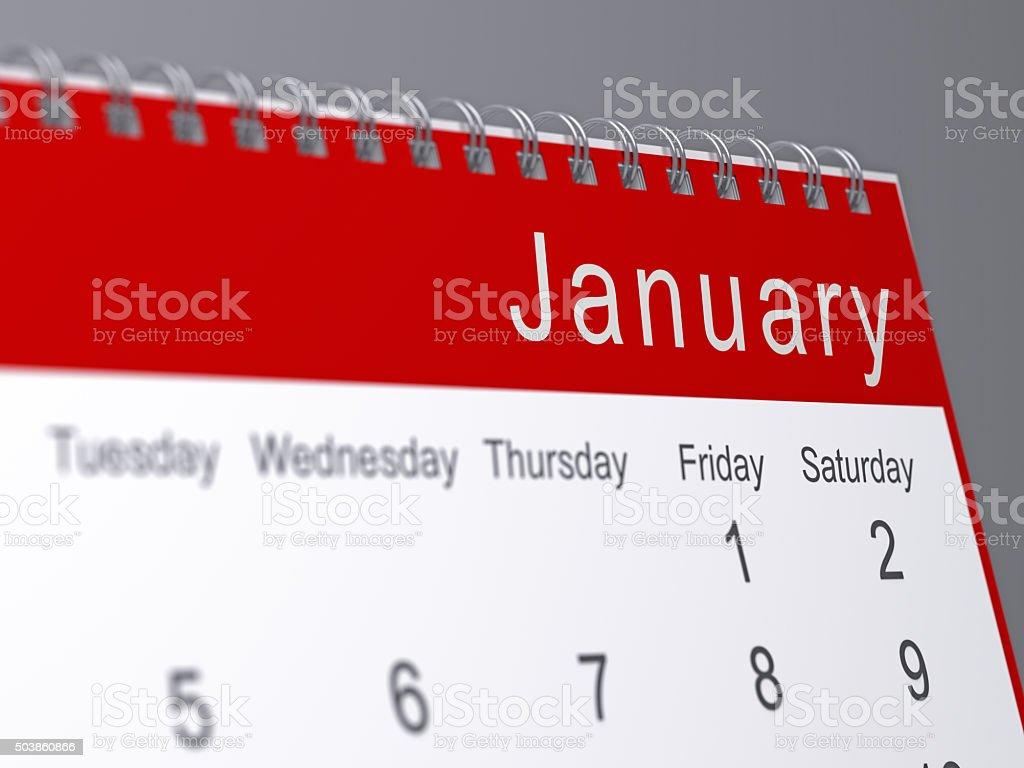 January 2016 stock photo