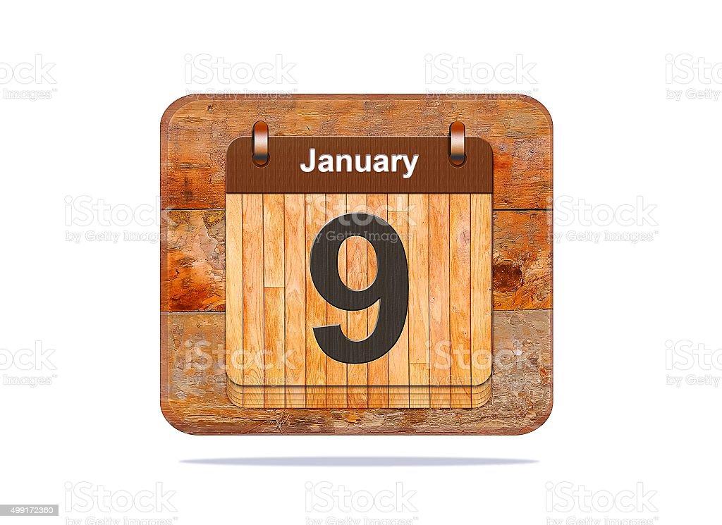 January 9. stock photo