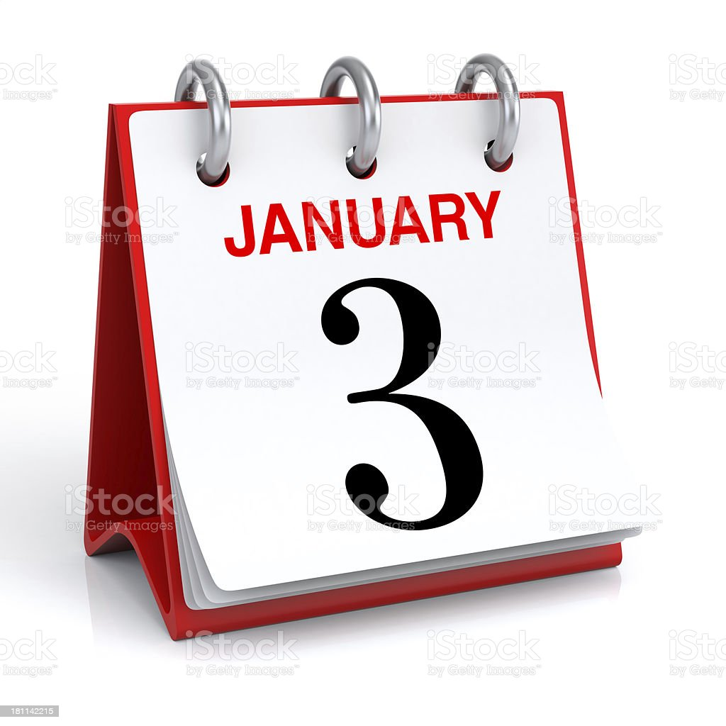 January Calendar royalty-free stock photo