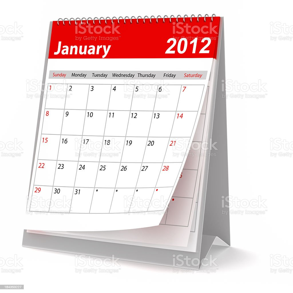 january Calendar series royalty-free stock photo