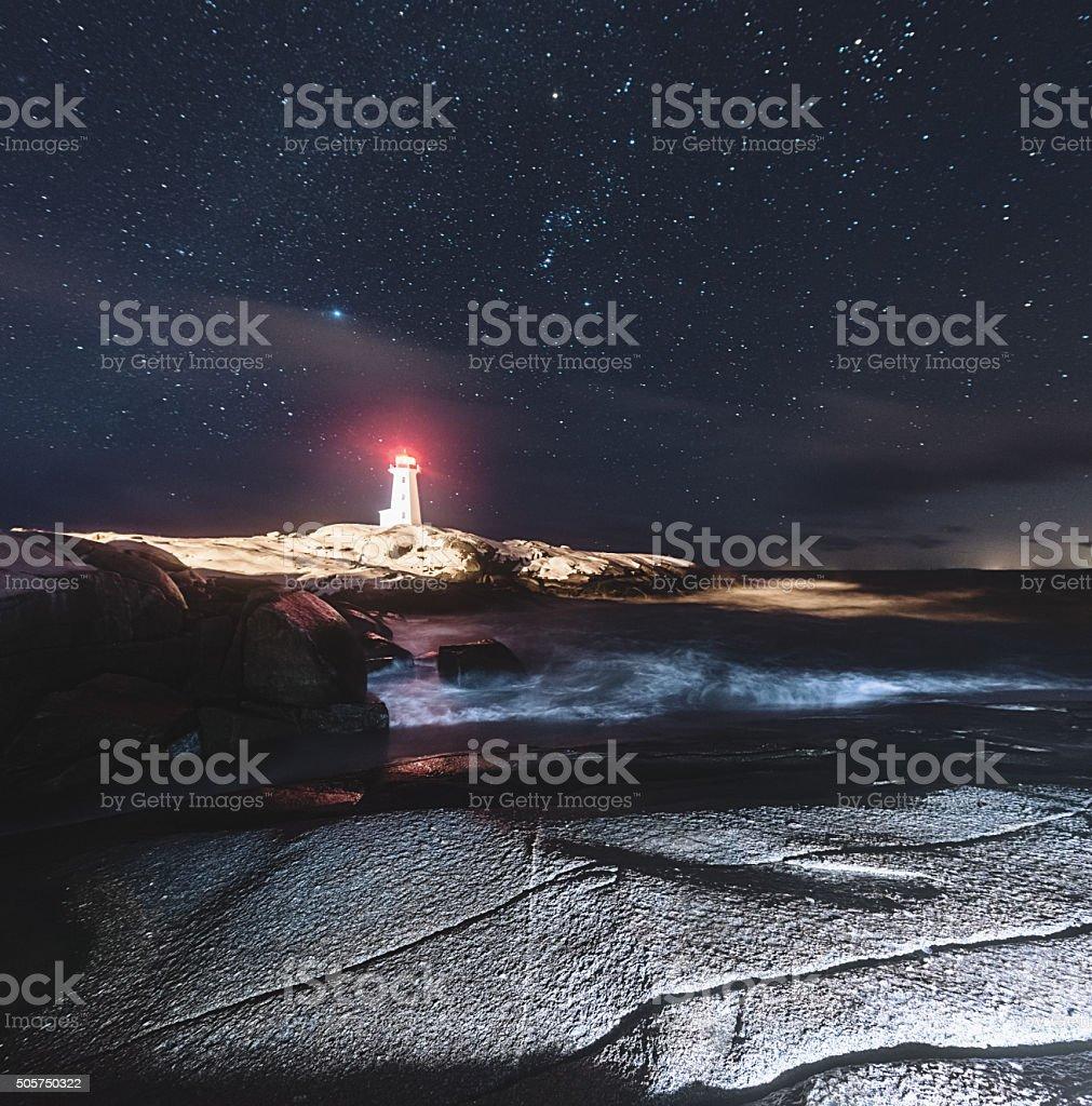 January Lighthouse stock photo