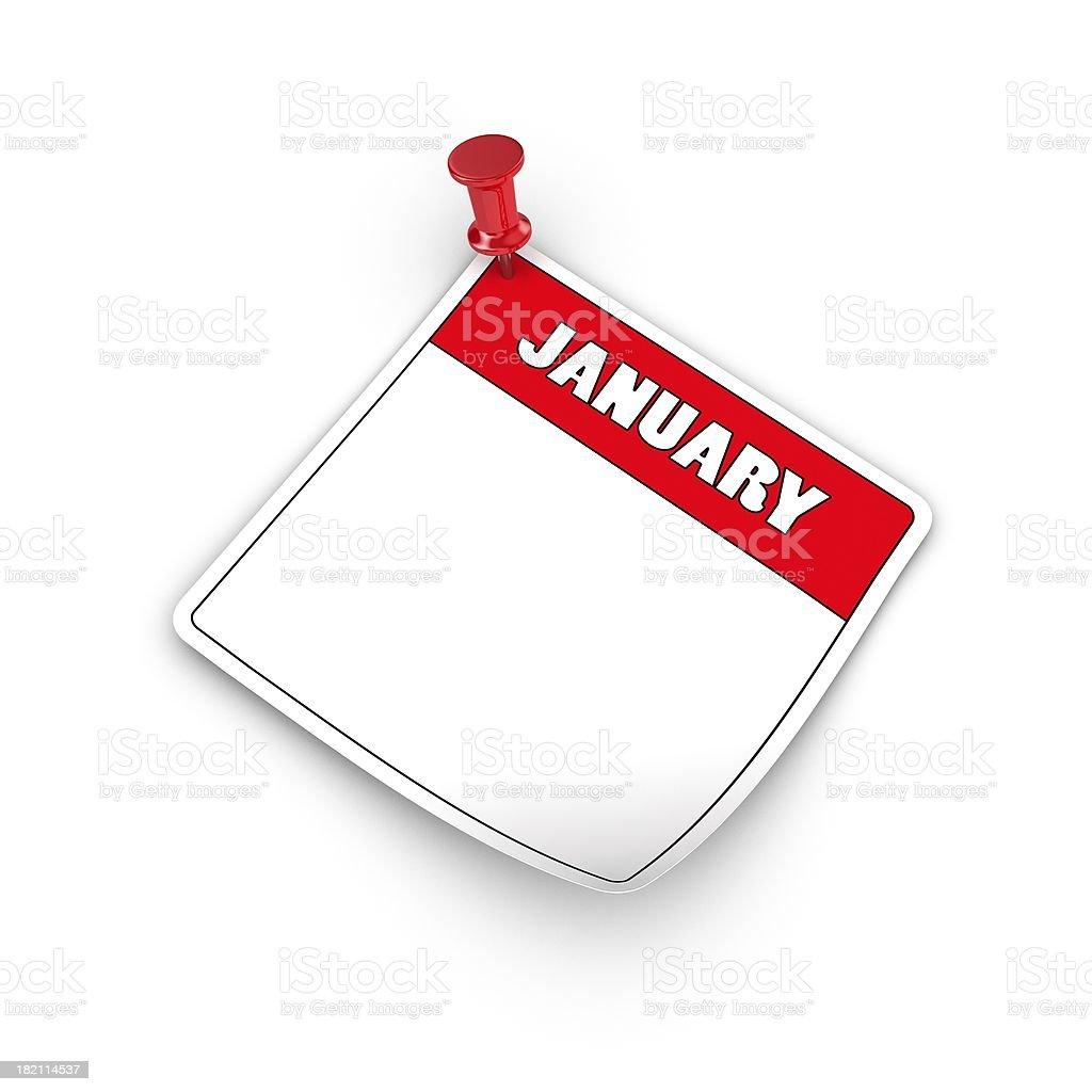 January. royalty-free stock photo